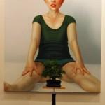 "art KARLSRUHE 2014, Fotos (c) Cornelia Kerber. www.cornelia-kerber.de (103) Galerie Dengler und Dengler, Stuttgart Künstler: Andràs Pinczehelyi ""Sbagliato"", 2012, Öl und Leinwand 200 x 212 cm"