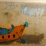 "art KARLSRUHE 2014, Fotos (c) Cornelia Kerber. www.cornelia-kerber.de (61) Galerie Hosp, Nassereith, Österreich Künstler: Peter Kohl Titel ""Ruder Luder"", 110x170"