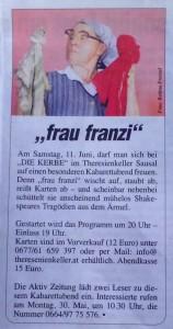 Artikel frau franzi bei DIE KERBEr, Aktiv Zeitung, Mai 2016 (2)