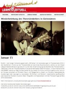 Artikel_Leibnitz Aktuell, 15.01.2016, Neueröffnung Theresienkeller, DIE KERBER, Cornelia Kerber