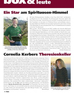 BOX Magazin, Ausgabe Sommer 2016, Artikel Cornelia Kerber, DIE KERBER, Theresienkeller