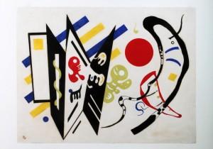 Unverkennbar ein Wassily Kandinsky: das 1939 entstandene Werk als HPH-Siebdruck für das Deutsche Kinderhilfswerk Foto: Jürgen Burkhardt